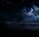 Bakgrund för natthimmel Arkivbilder
