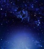 Bakgrund för natthimmel Royaltyfria Bilder