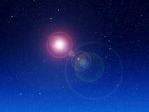 Bakgrund för nattSky Arkivbild