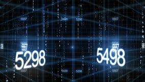 Bakgrund för nummerdatateknologi royaltyfri illustrationer
