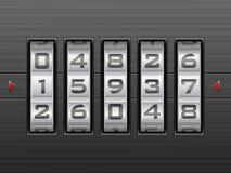Bakgrund för nummerkombinationslås Royaltyfria Bilder