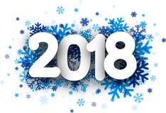 Bakgrund för nytt år 2018 stock illustrationer