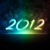 Bakgrund för nytt år 2012 Royaltyfria Bilder