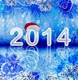2014 - Bakgrund för nytt år Royaltyfri Foto