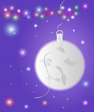 Bakgrund för nytt år med månen Royaltyfri Illustrationer