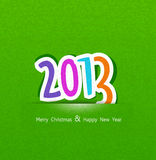 Bakgrund för nytt år med numren 2013 vektor illustrationer