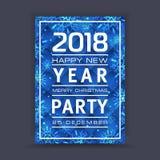 Bakgrund för nytt år med utrymme för din text kortjul som greeting Vinterram med snowflakes Royaltyfria Foton