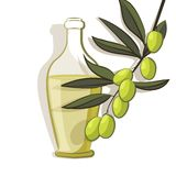 Bakgrund för olivgrön filial Arkivbild