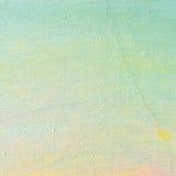 Bakgrund för olje- målarfärg, ljus ultramarine blått, guling, rosa färgen, turkos, den stora borsten slår målning specificerad te Arkivfoto