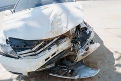 Bakgrund för olycka för bilkrasch Arkivfoton