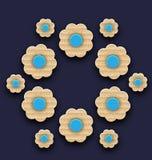 Bakgrund för pappers- blommor, handgjord sammansättning Royaltyfri Bild