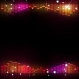 Bakgrund för parti för diskomusikutjämnare vektor illustrationer