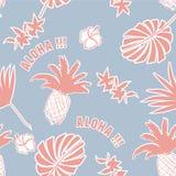 Bakgrund för pastellfärgad färg för sommar tropisk Palmblad exotisk fru Arkivfoton