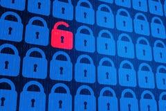 Bakgrund för personligt begrepp för säkerhet för Digital internetdata blå Säker serfing www cyberspace royaltyfria bilder