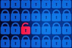 Bakgrund för personligt begrepp för säkerhet för Digital internetdata blå Säker serfing www cyberspace arkivbilder