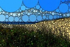 Bakgrund för plats för mosaikabstrakt begreppstrand Arkivbild