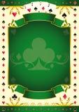 Bakgrund för Pokergame gräsplanklubba Arkivbild