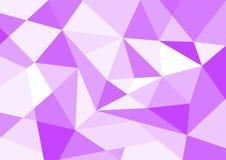 Bakgrund för polygon Perpur för pastellfärgad färg Royaltyfria Bilder