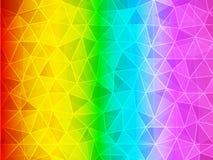 Bakgrund för polygonlutningregnbåge Royaltyfri Bild