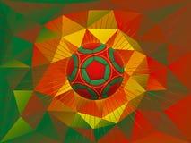 Bakgrund för Portugal fotbollboll Royaltyfri Bild