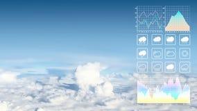 Bakgrund för rapport för presentation för väderprognos royaltyfri bild