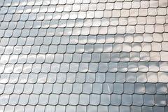 Bakgrund för reflexion för krom för räkning för vägg för form för metall för silver för textur för fiskskala royaltyfri foto