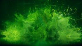 Bakgrund för reflexion för partiklar för vätska för explosion för rök för bristning för grön färg färgrik vektor illustrationer