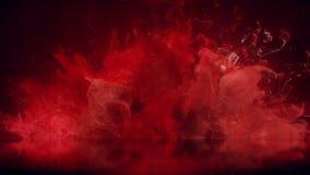 Bakgrund för reflexion för partiklar för vätska för explosion för rök för bristning för röd färg färgrik vektor illustrationer