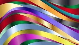 Bakgrund för regnbågemetallvåg Royaltyfri Bild
