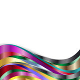 Bakgrund för regnbågemetallvåg Fotografering för Bildbyråer