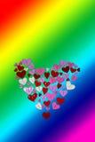 Bakgrund för reklamblad för inbjudan för parti för dag för valentin för kort för LGBT-valentindag Arkivfoton