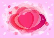 Bakgrund för rosa färger för dag för valentin` s royaltyfri illustrationer
