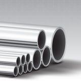 Bakgrund för rostfritt stålrör stock illustrationer