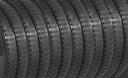 Bakgrund för Rubber gummihjul arkivfoton