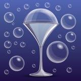 Bakgrund för såpbubblaexponeringsglasbegrepp, tecknad filmstil royaltyfri illustrationer
