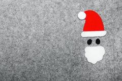 Bakgrund för Santa Claus shapeongrå färger Arkivfoton