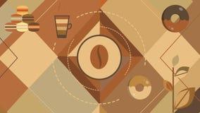 Bakgrund för Shape lägenhetkaffe vektor illustrationer