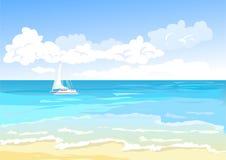 Bakgrund för sikt för ‹för †för havs vektor illustrationer