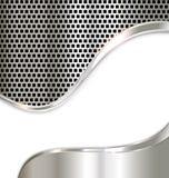 Bakgrund för silvermetallmall Royaltyfri Bild