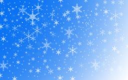 Bakgrund för snö för vinterferie Arkivfoto