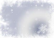 Bakgrund för snöflingajul Arkivbilder