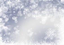 Bakgrund för snöflingajul Royaltyfri Fotografi
