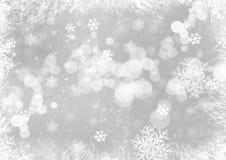 Bakgrund för snöflingajul Arkivfoto