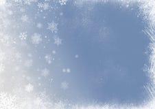 Bakgrund för snöflingajul Arkivfoton