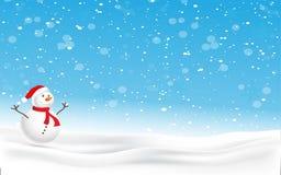 Bakgrund för snömanjul stock illustrationer