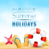 Bakgrund för sommarferie Arkivbilder