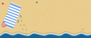 Bakgrund för sommarsemester Flip Flops havskust vektor illustrationer
