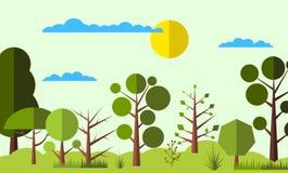 Bakgrund för sommarskoglägenhet Royaltyfria Bilder