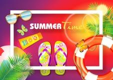 Bakgrund för sommarstrandvektor Fotografering för Bildbyråer