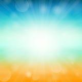 Bakgrund för sommartid - illustration Vektorillustration av en glödande bakgrund för sommartid Arkivbilder